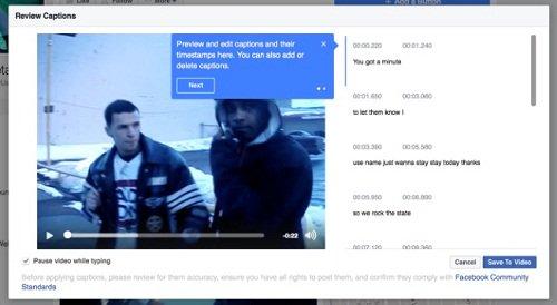 Thumbnail for Facebook amplia legendas automáticas para vídeos de páginas