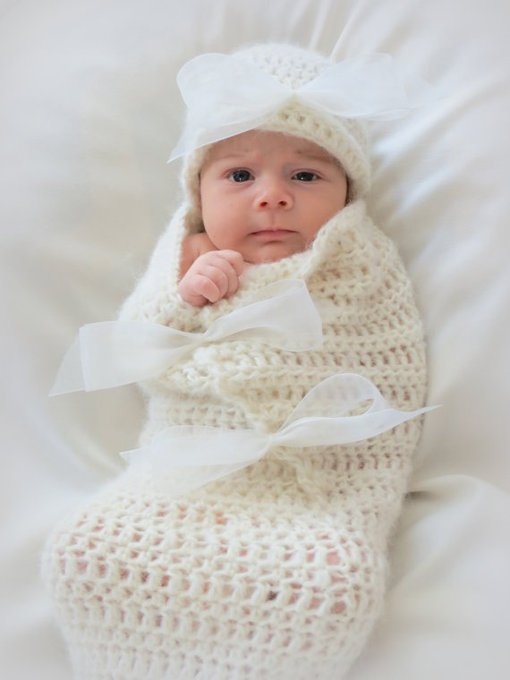 Crochet Baby Cocoon and Hat Pattern
