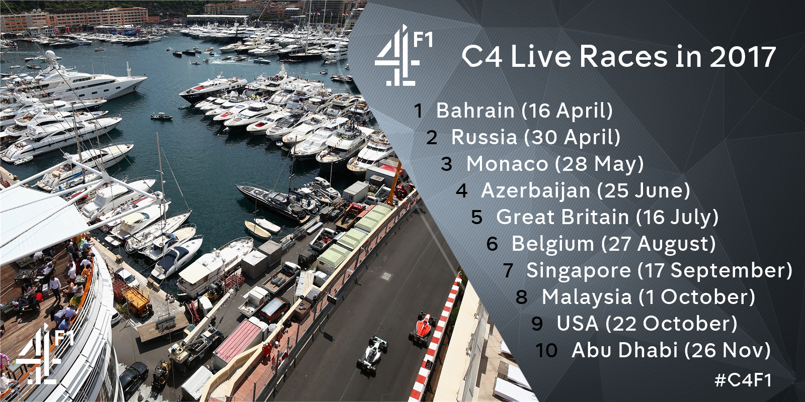 "Channel 4 F1® on Twitter: ""We are happy to announce the ..."