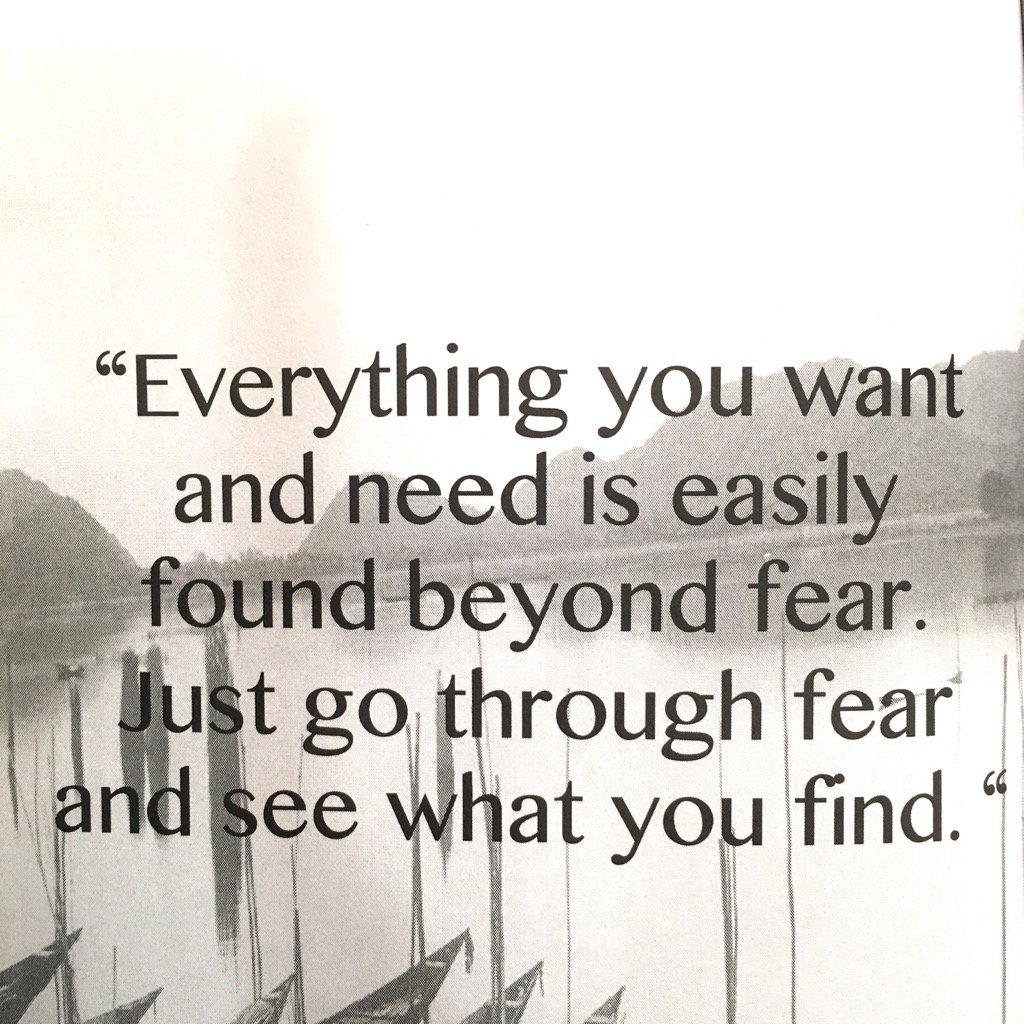 Something to think about this #ThoughtfulThursday... when fear knocks...
