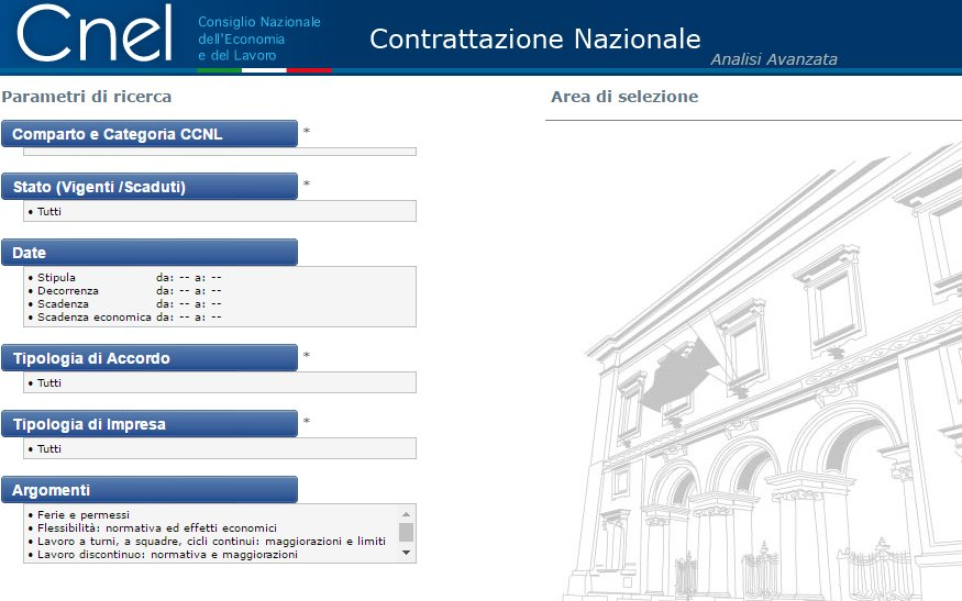 Portale cnel archivio contratti online dating