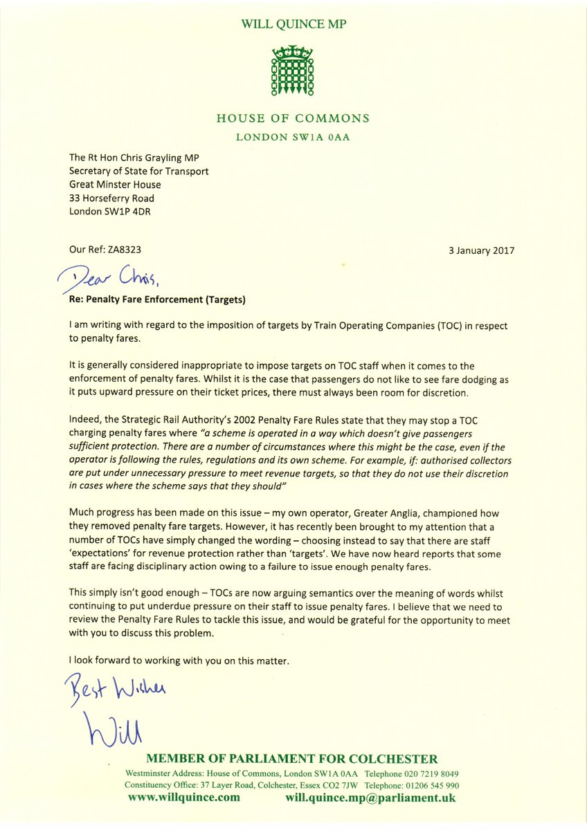 Will quince mp on twitter my letter to the transport secretary 1225 am 5 jan 2017 aljukfo Choice Image
