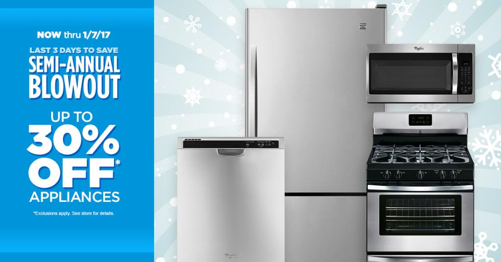 There's still time to SAVE BIG at our Semi-Annual Appliance Blowout Sale! Shop Now! https://t.co/ARUmdFfQHB https://t.co/BZWJTZ5qXT