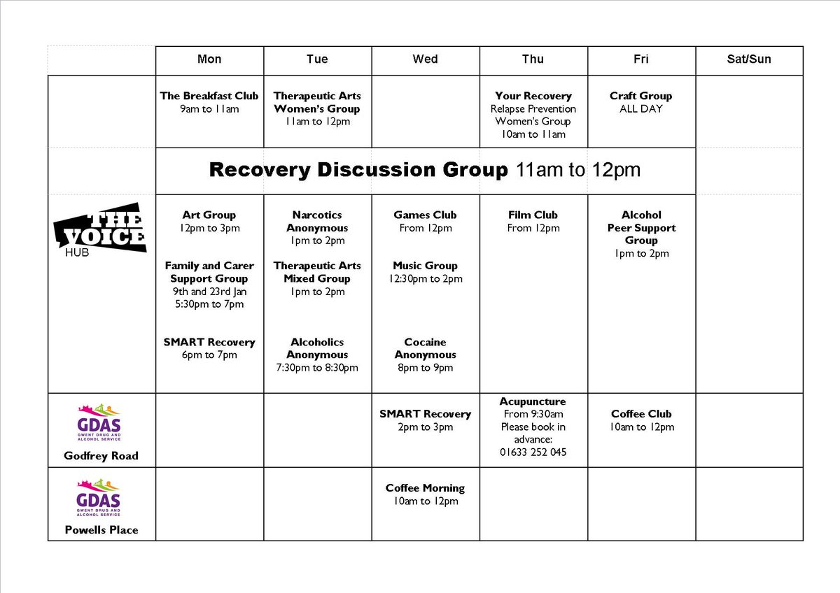 alcohol recovery activities