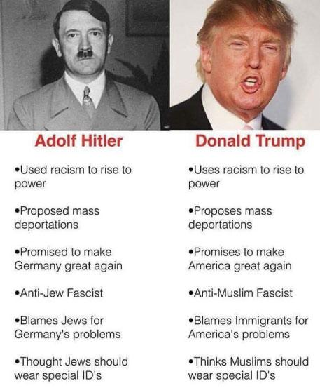 Why would a man who is so comparable to Adolf Hitler even mention Nazi Germany?  #TrumpPressConference #TheResistance #Resist #GoldenShowers <br>http://pic.twitter.com/6JKOcWbcaZ