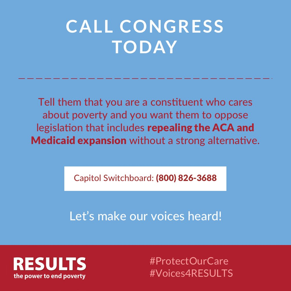 RESULTS Protect Our Care call-in