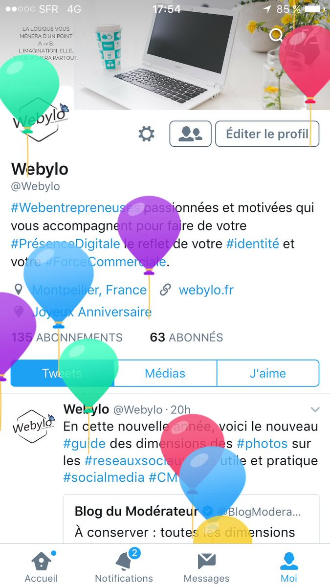 Merci beaucoup @Twitter pour les jolis ballons qui défilent sur mon écran  #MyBirthday #HappyBirthday #sofunny #Twitter<br>http://pic.twitter.com/bUmbEzabck