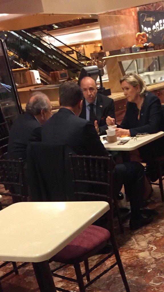 A la #trumptower #NYC #MLP et @louis_aliot reçus par Georges Lombardi le bras droit de #Trump<br>http://pic.twitter.com/3KRTanBgOB