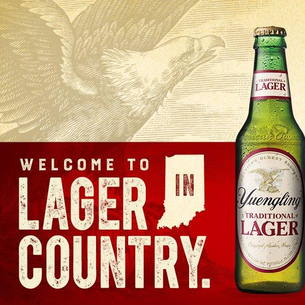 Welcome Indiana to #YuenglingCountry. https://t.co/17al3iatIZ