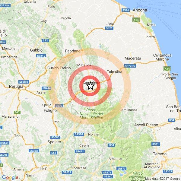 Terremoto Centro Italia: aggiornamento sequenza sisma di Oggi 23 gennaio 2017