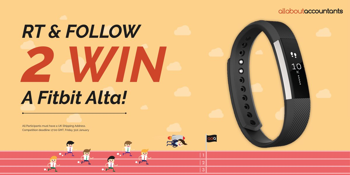 New Year, New You? Kickstart your 2017 goals and #Win a #Fitbit Alta - Retweet &amp; Follow @aa_accountants to enter #NewYearNewMe  <br>http://pic.twitter.com/hBH0V5YyfF