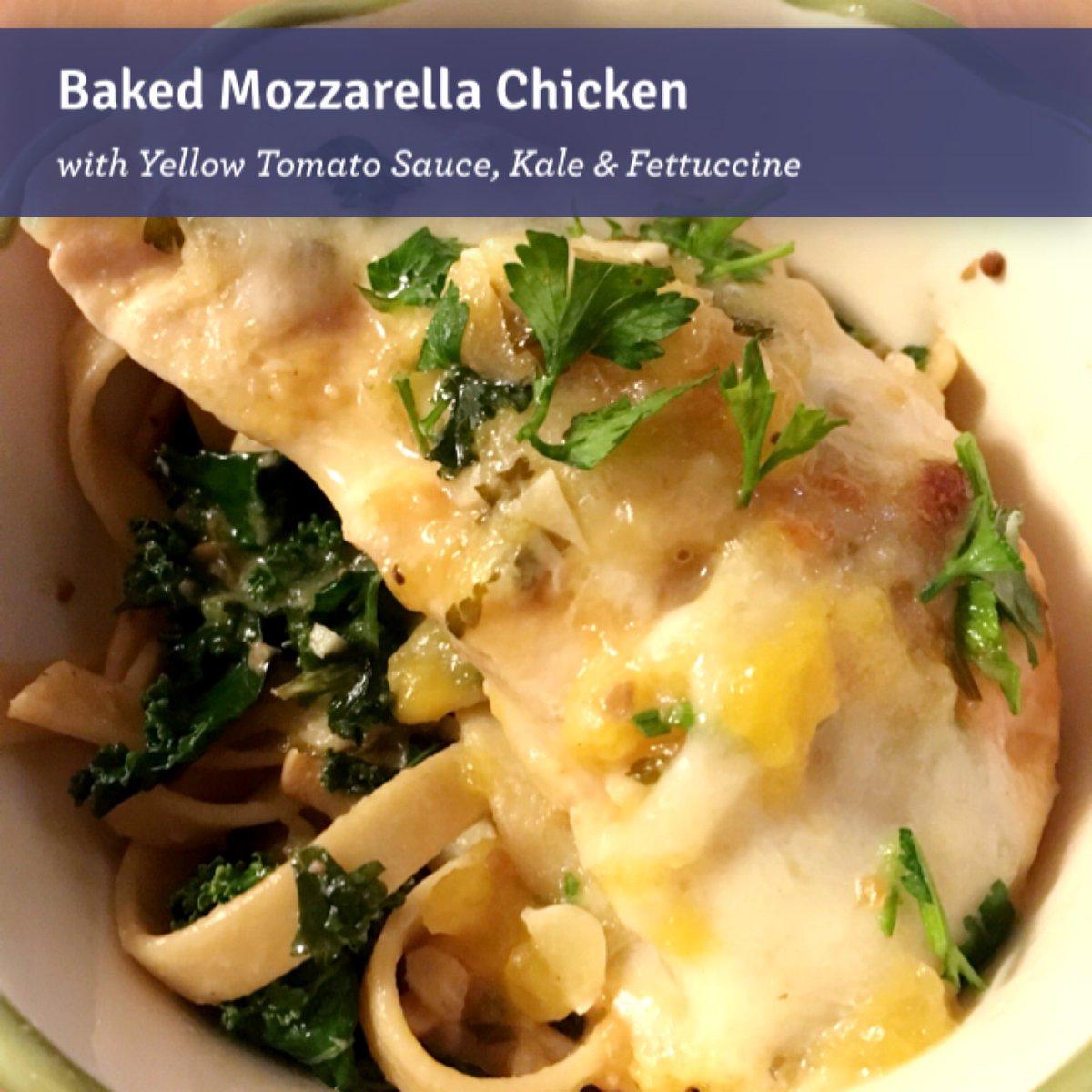 Blue apron uae - Ruth Anne Yang On Twitter Baked Mozzarella Chicken With Yellow Tomato Sauce Kale Fettuccine Blueapron Https T Co Lb9zihhino
