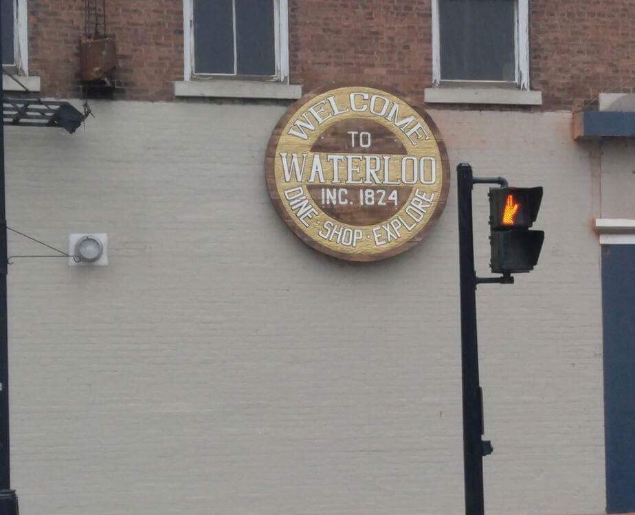 New sign hangs proudly in downtown Waterloo
