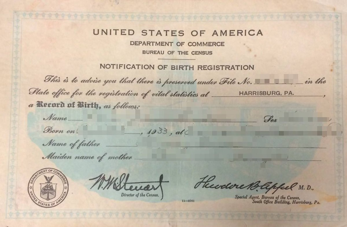 Us Census Bureau On Twitter Tbt Notification Of Birth