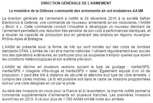 [#Communiqué 05/01] La #DGA commande des #armements air-sol modulaires #AASM &gt;&gt;&gt;  http:// bit.ly/CPDGAAASM  &nbsp;  <br>http://pic.twitter.com/v6Hjr8ZyAg