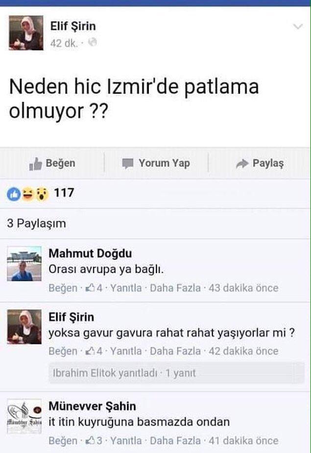 Izmir neden patlamiyor diyenleri iceri alacak birileri cikacak mi acaba? @metinfeyzioglu @EmniyetGM https://t.co/4vwl42s9Z2