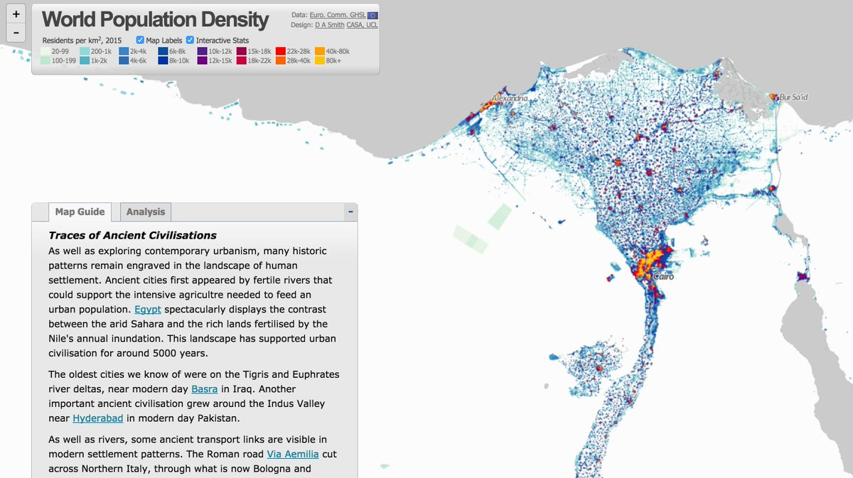 Maarten Lambrechts On Twitter World Population Density Great - 2015 world population interactive map