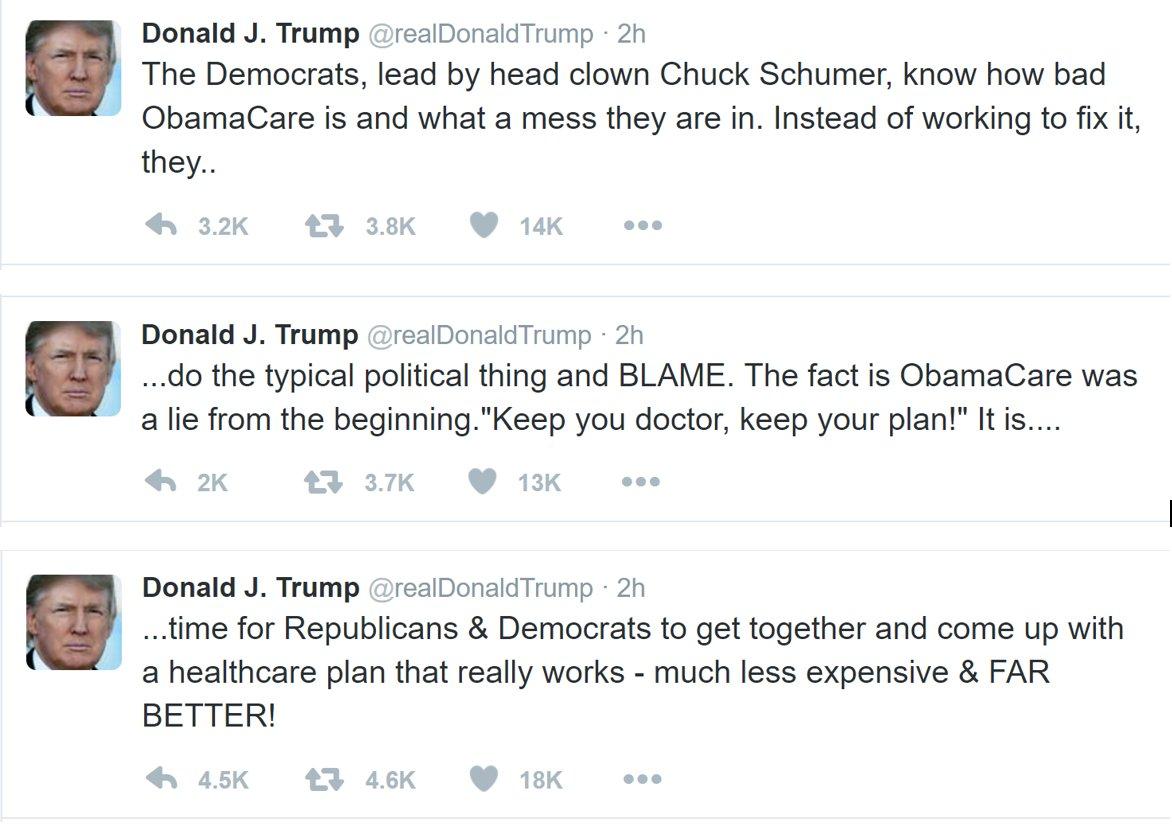Head clown chuck schumer