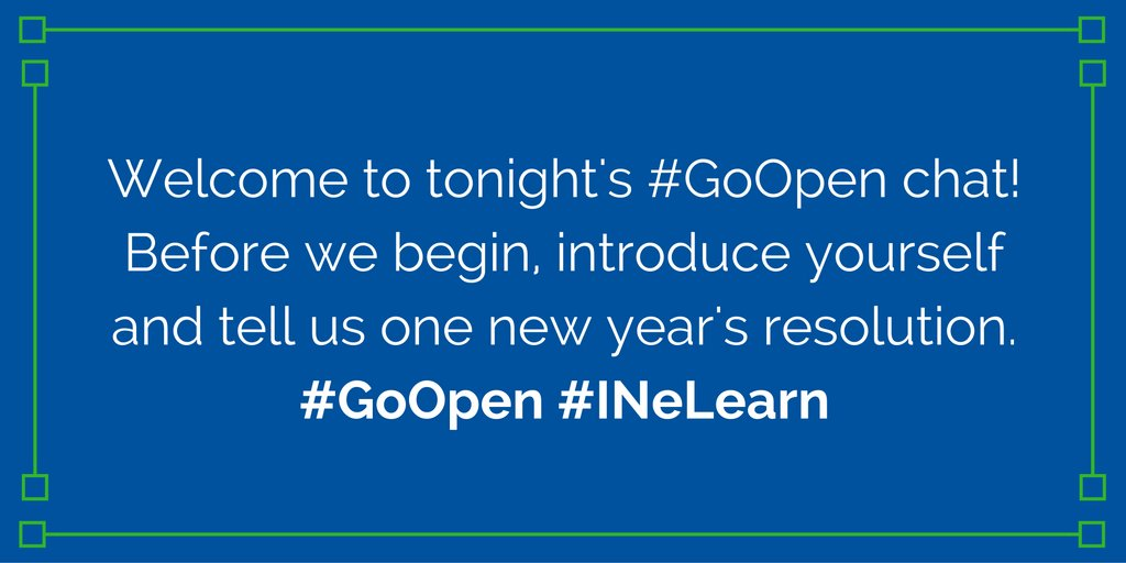 Thumbnail for #INeLearn #GoOpen Takeover 1/5/17