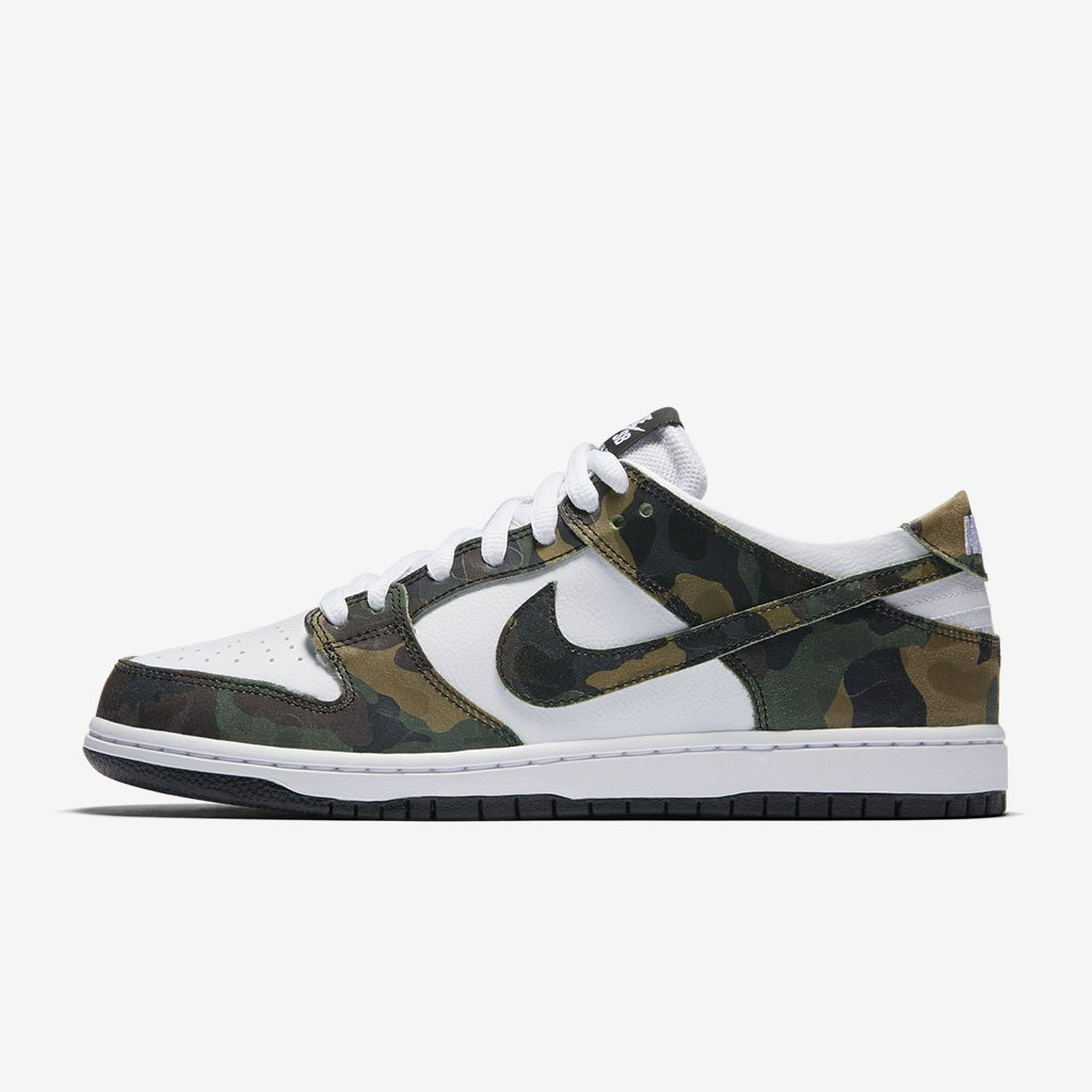 f15e68583720 outfitted in a classic camo pattern the dunk low sb pro and zoom stefan  janoski shop