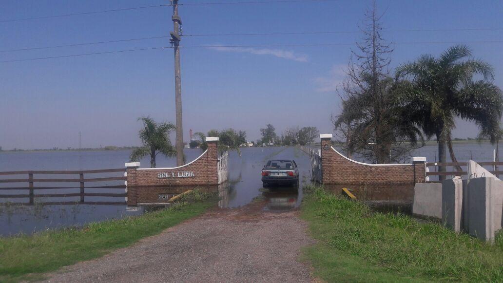 Tambos inundados