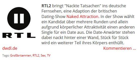 dating show deutschland
