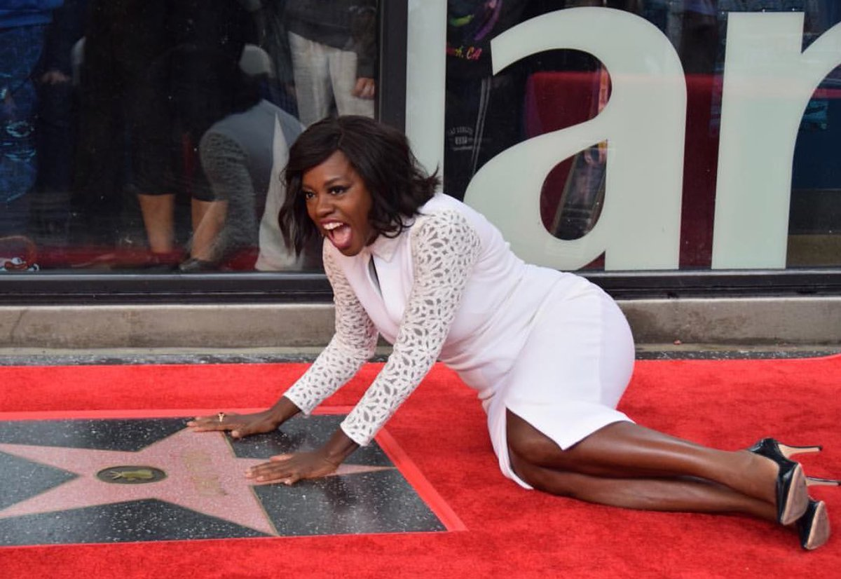 .@violadavis received her star on the Hollywood Walk of Fame!