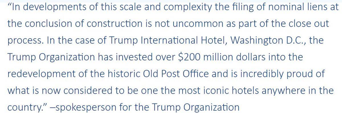 Trump Organization issues statement regarding unpaid contractors at D.C. hotel https://t.co/kr7mT6JswP https://t.co/ZhR805Sp2Y