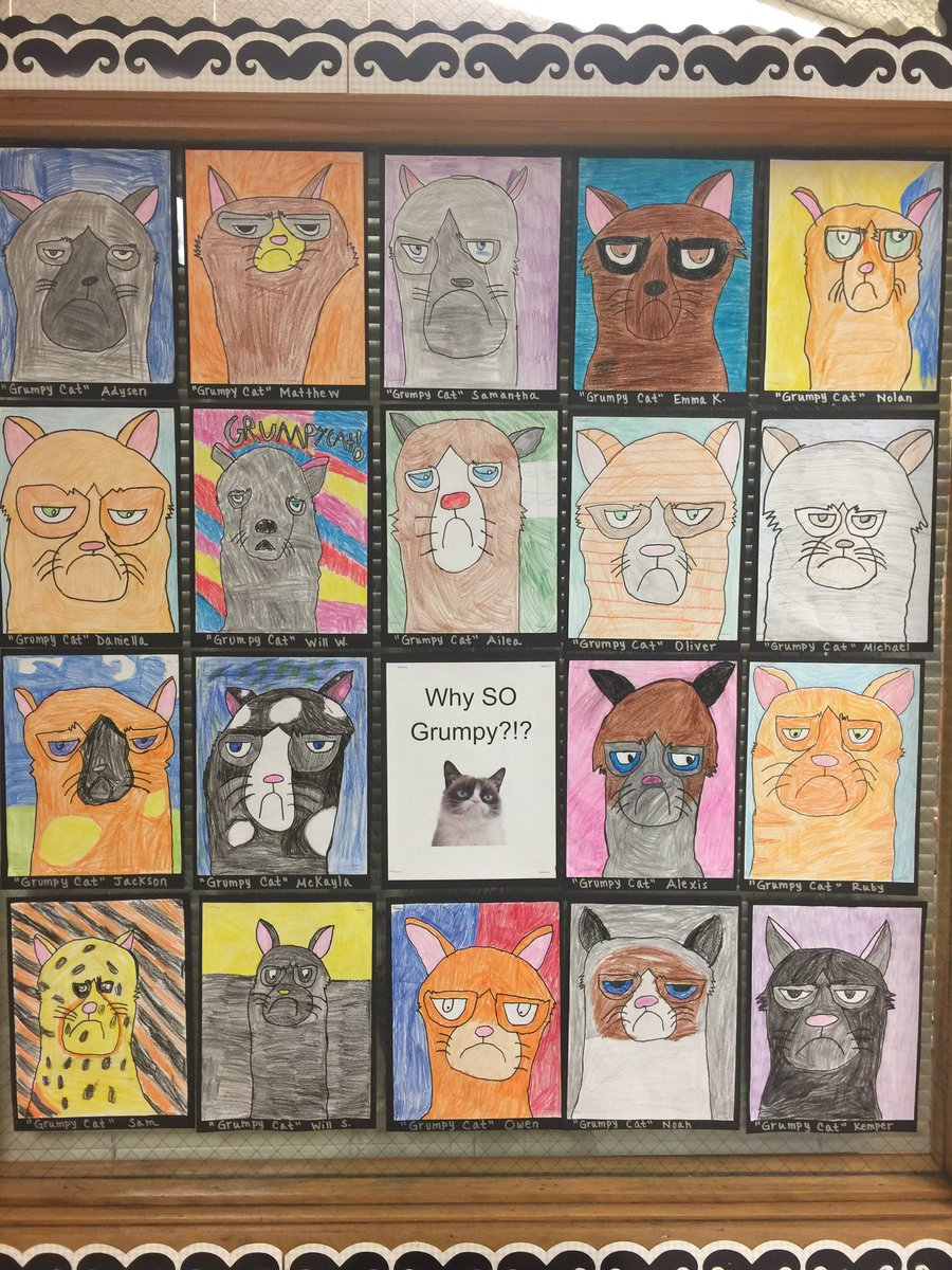 Thanks @KathyBarbro for the Grumpy Cat project! @RealGrumpyCat @le58rocks @dg58learns