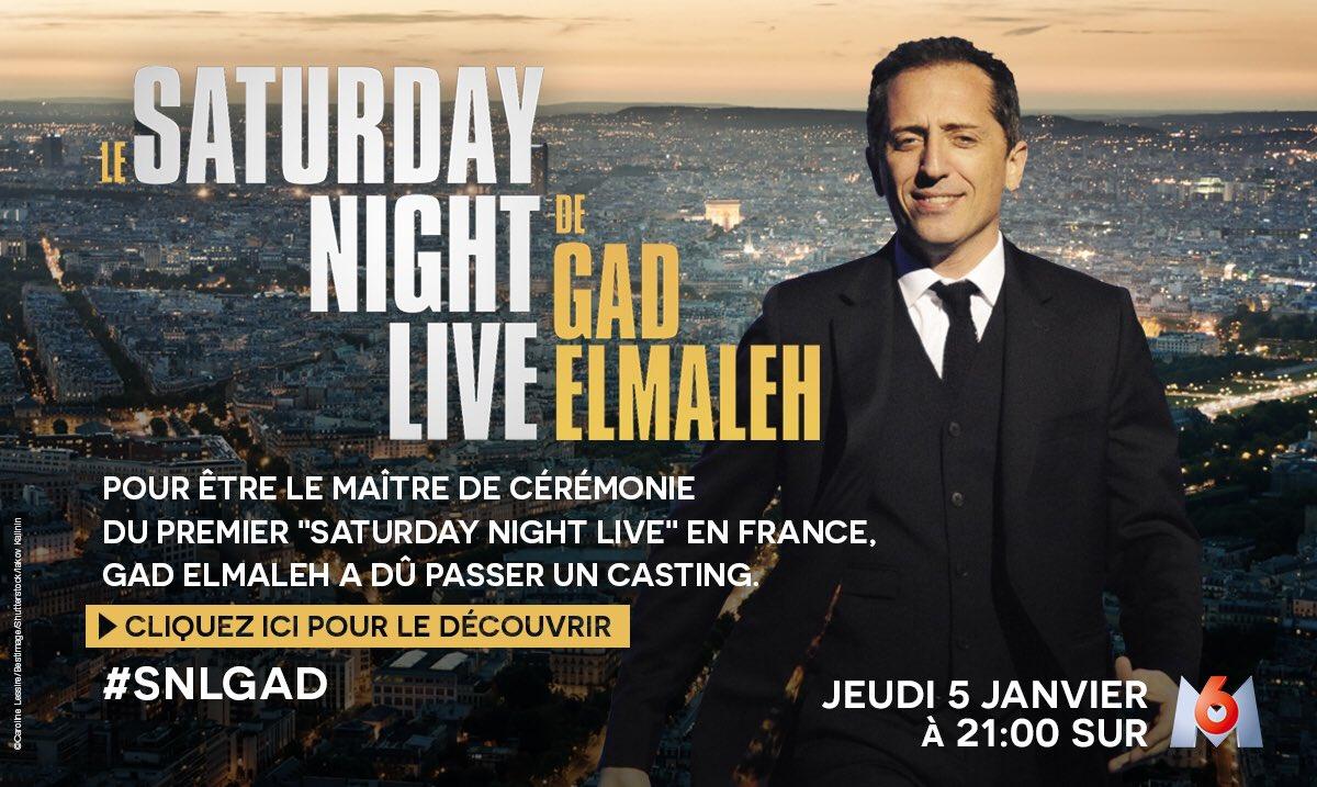 Retrouvez moi ce soir sur @M6 ! #Live #SNLGAD 📺🎤