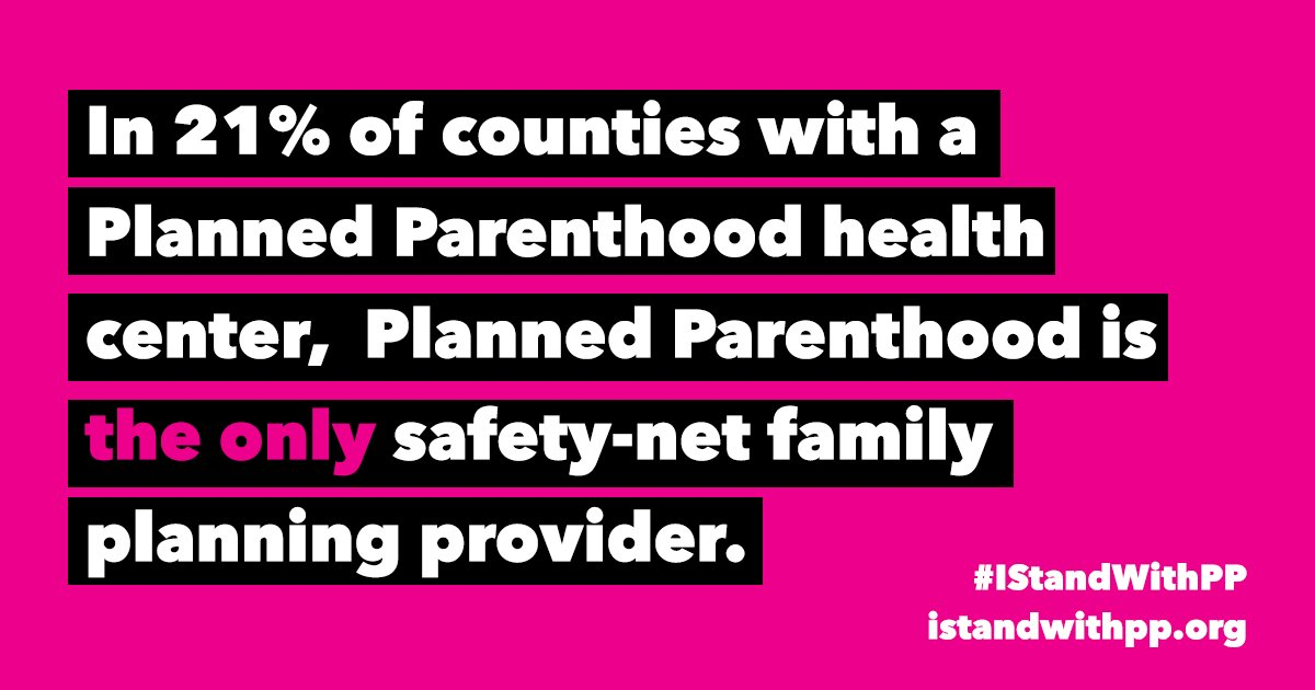 For many people, Planned Parenthood is their only source of health care. #IStandWithPP