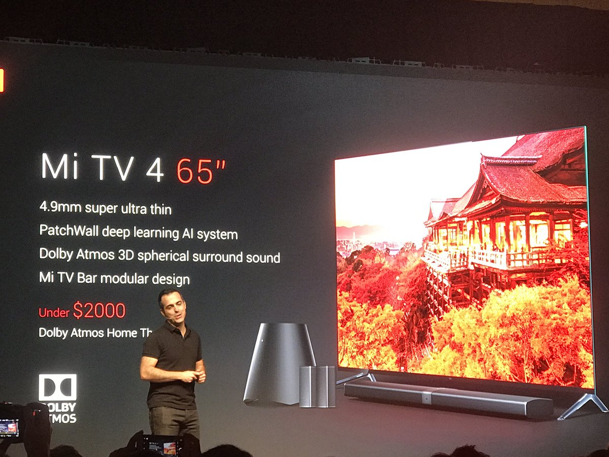 Xiaomi shows off a new, super-thin smart TV that costs less than $2,000