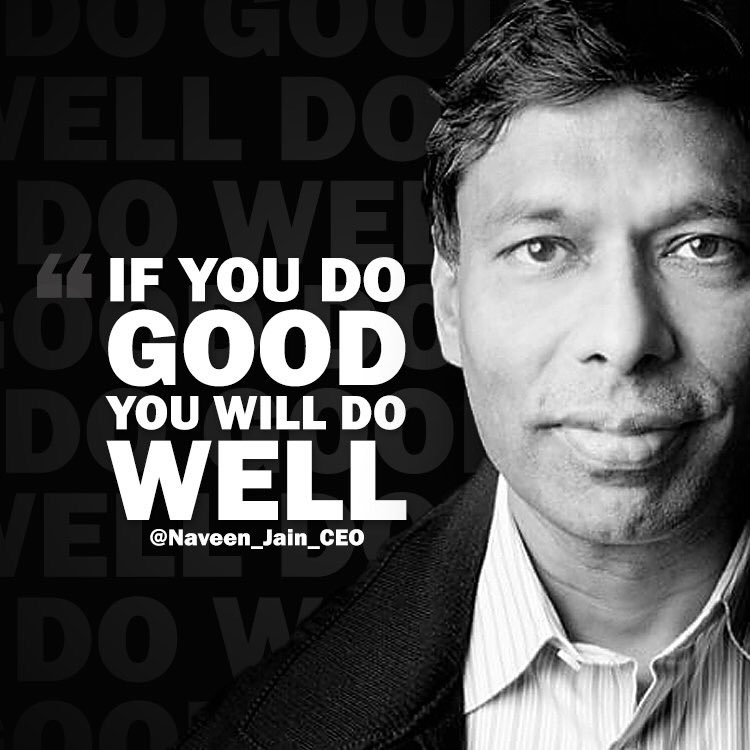 No one has ever become less successful by doing good. #ThursdayThought...