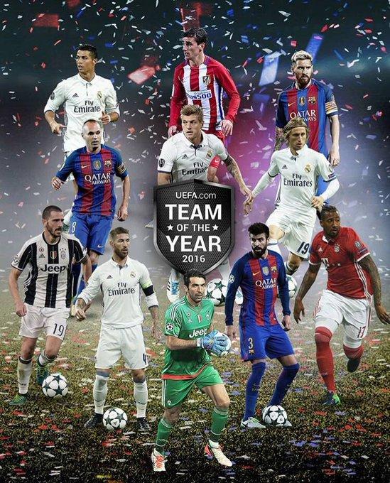 L'UEFA a dévoilé l'équipe type de 2016 !