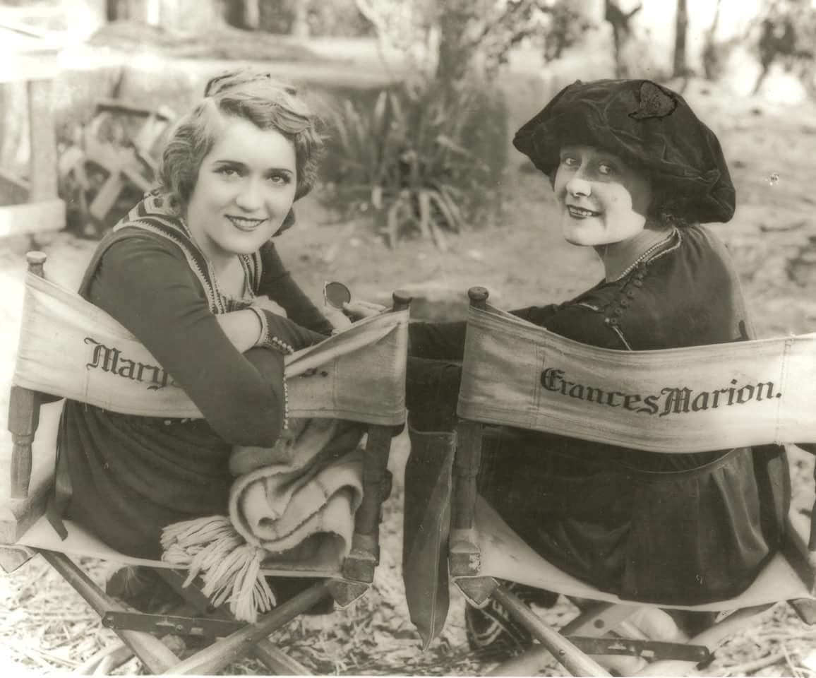 For #NationalScreenwritersDay Mary with her favorite screenwriter and friend Frances Marion