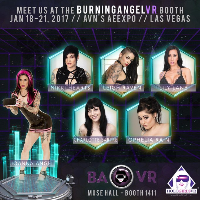 Come see me and all these babes at AEE! There will be VR demos! https://t.co/qW4E94hwwj