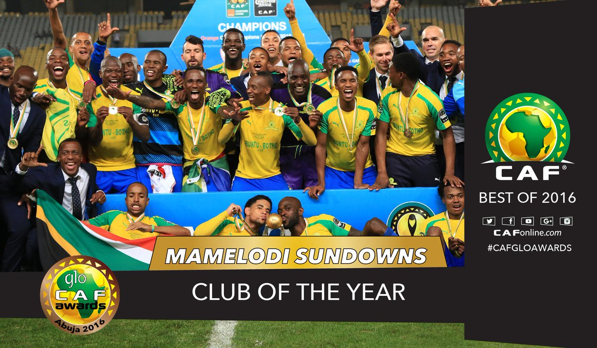 The CAF Champions League winners  @Masandawana are named African Club of the Year #GloCAFAwards2016