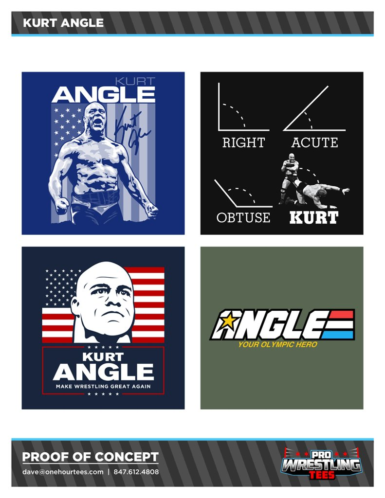 Choose one of these Kurt Angle t-shirts by going to https://t.co/p7GfJ...