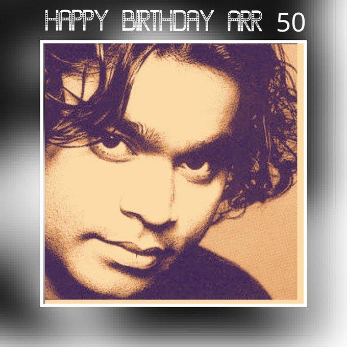 "Happy birthday Guru, My Inspiration tamilan \""Isai puyal\"" A.R.Rahman. God bless.  50thbirthdaywishes"