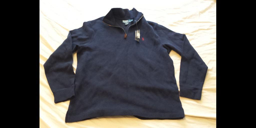For Sale  http:// ebay.to/2iGJ0NM  &nbsp;   $59.95 #POLO Ralph Lauren Men Size L navy Blue #cotton #sweater 1/2 zip neck NWT #Ralph <br>http://pic.twitter.com/s61oTOvyvr