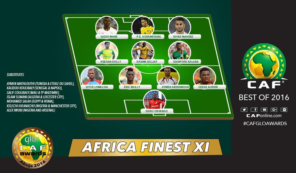 Africa\'s Finest XI #GloCAFAwards2016