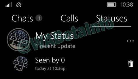 Wabetainfo On Twitter Status In Whatsapp Beta For Windows