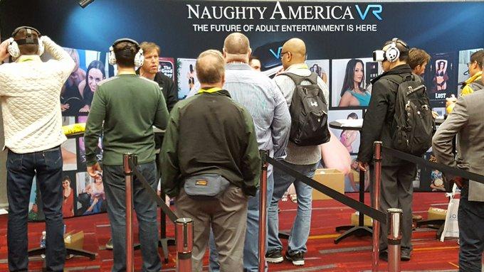 RT @vrpimp: Enjoying some @naughtyamerica #VR #porn at #CES2017 https://t.co/F7e92JIZuo