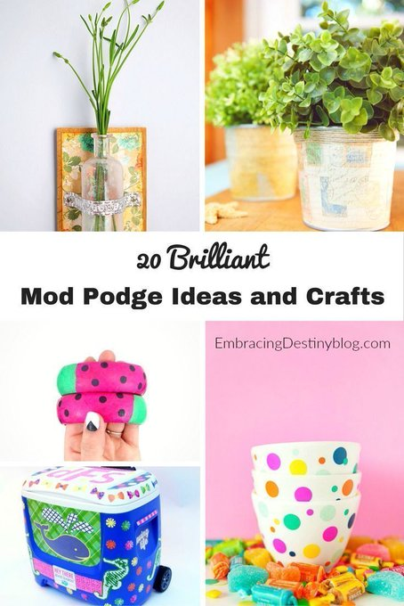 20 Brilliant Mod Podge Crafts and Ideas
