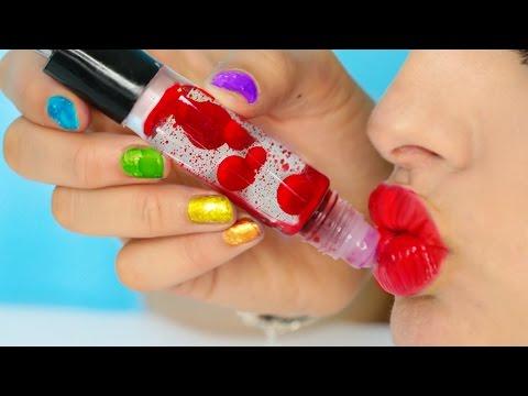 DIY Lava Lamp Lip Gloss! #diy #tutorial #beauty #makeup