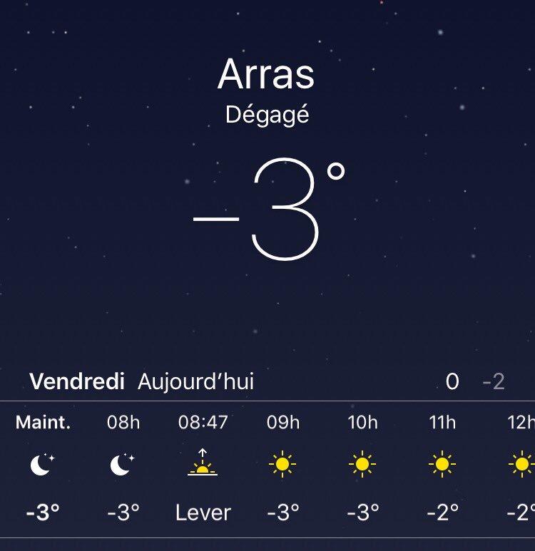 Ça pique ce matin, couvrez-vous bien !  Bonne journée #Arras  <br>http://pic.twitter.com/UIQvV61ekd