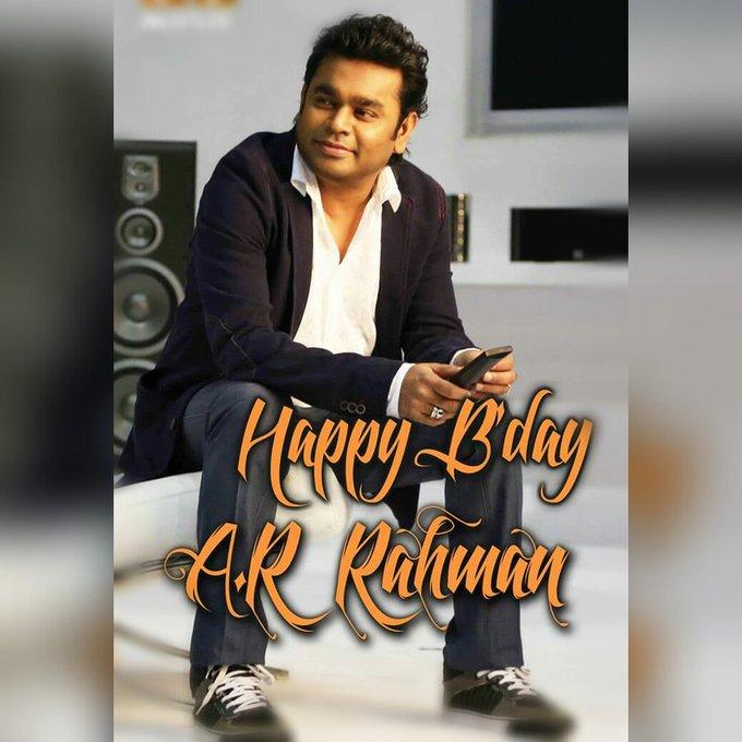 Happy birthday Mr. A.R.Rahman sir....
