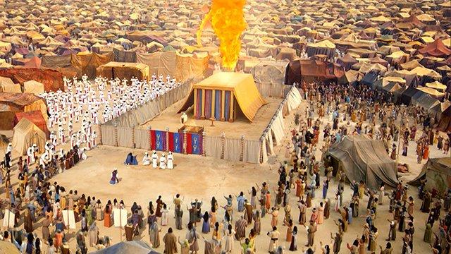 Aarón Dios Y Aarón Encienden El Fuego Sagrado Del Tabernáculo