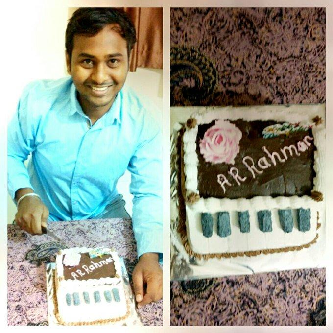 "Happy birthday The Master The Superstar \""The Mozart of Madras\""Allah Rakah Rahman aka A.R.Rahman"