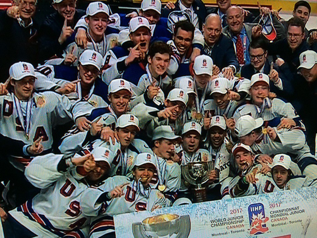 Congrats to @usahockey Gold Medal Winners #WJC2017 https://t.co/VR4bcFc6Dd